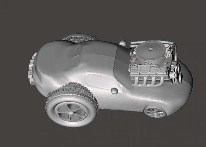 دانلود مدل سه بعدی اتومبیل دستکاری شده