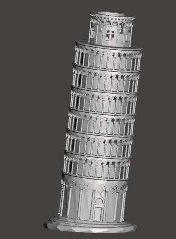 دانلود مدل سه بعدی برج پیزا