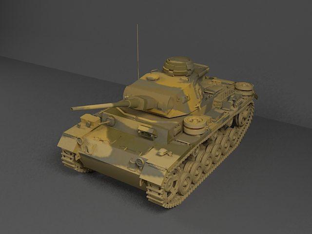 دانلود مدل سه بعدی تانک پانزر3