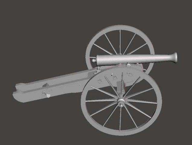 دانلود مدل سه بعدی توپ جنگ