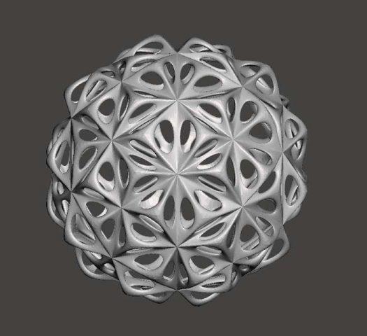 دانلود مدل سه بعدی توپ مشبک