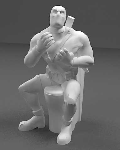 دانلود مدل سه بعدی ددپل در توالت