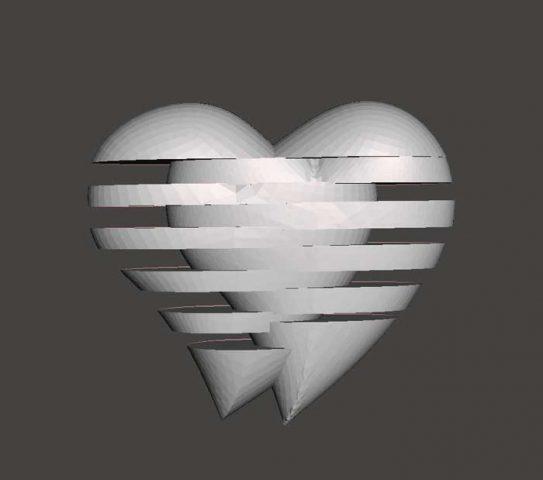 دانلود مدل سه بعدی دو قلب