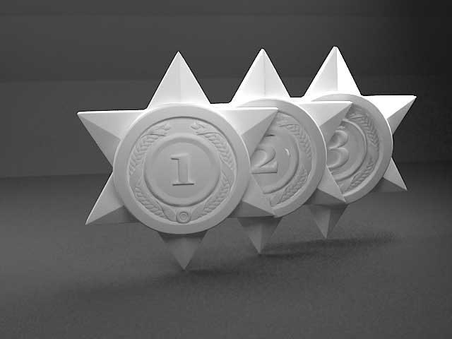 دانلود مدل سه بعدی ستاره جایزه
