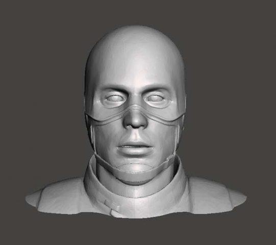 دانلود مدل سه بعدی سر کاپیتان آمریکا