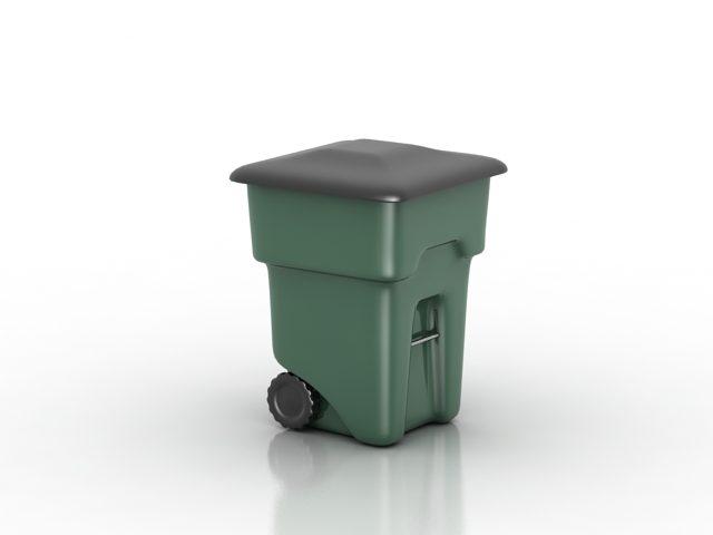 دانلود مدل سه بعدی سطل زباله بزرگ