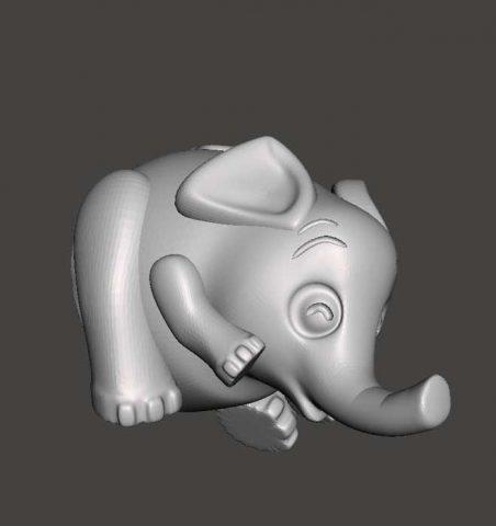 دانلود مدل سه بعدی فیل بانمک