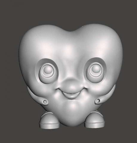 دانلود مدل سه بعدی قلب خوشحال