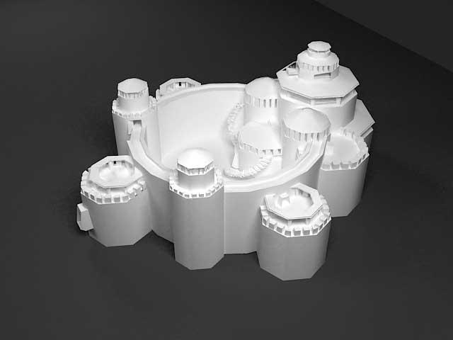 دانلود مدل سه بعدی قلعه باستانی