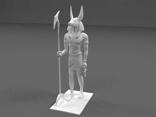 دانلود مدل سه بعدی مجسمه آنوبیس
