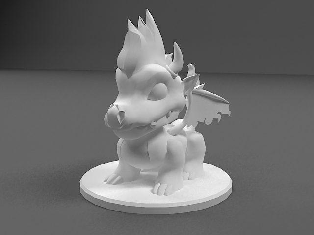 دانلود مدل سه بعدی مجسمه اژدها