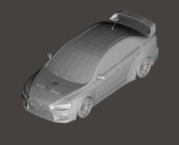 دانلود مدل سه بعدی میتسوبیشی لنسر