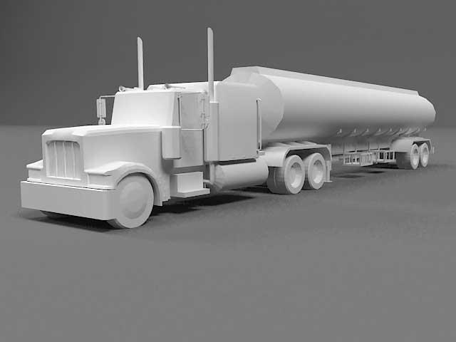 دانلود مدل سه بعدی کامیون تانکر بنزین