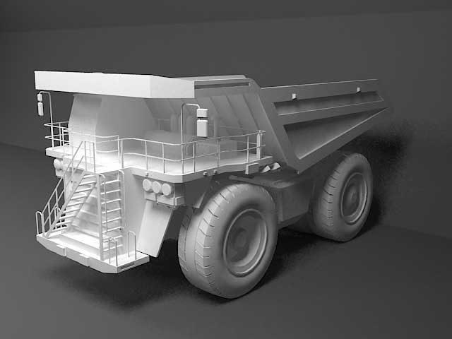 دانلود مدل سه بعدی کامیون غول پیکر
