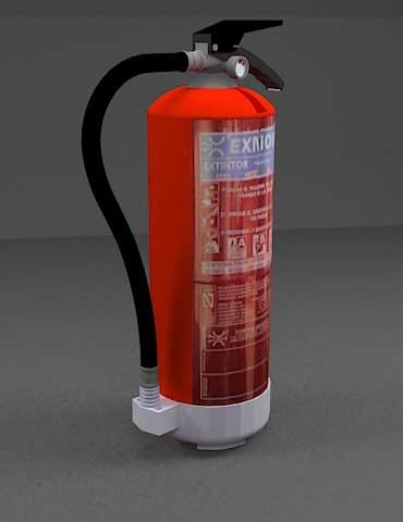 دانلود مدل سه بعدی کپسول آتشنشانی