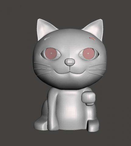 دانلود مدل سه بعدی گربه کودکانه