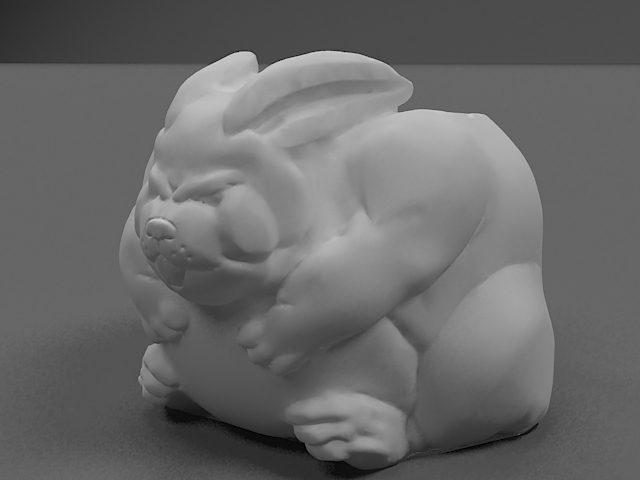 دانلود مدل سه بعدی گلدان خرگوشی