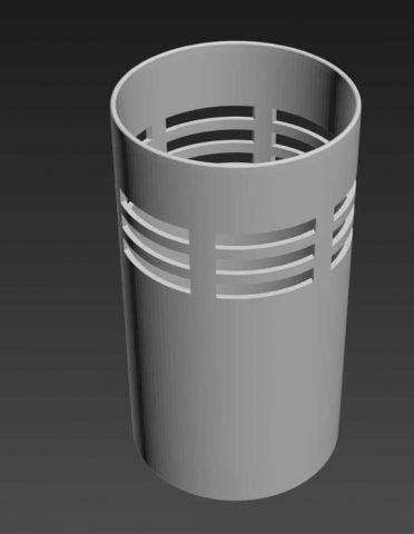دانلود مدل سه بعدی سطل زباله
