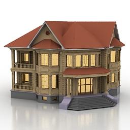 دانلود مدل سه بعدی آپارتمان دو ظبقه