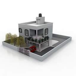 مدل سه بعدی اپارتمان دو طبقه