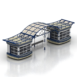 مدل سه بعدی ایستگاه اتوبوس