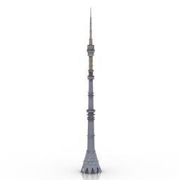 دانلود مدل سه بعدی برج تلویزیونی مسکو