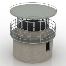 دانلود مدل آماده سه بعدی برج نگهبانی پلیس