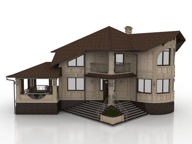 مدل سه بعدی آماده خانه ویلایی