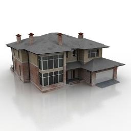 مدل سه بعدی خانه ویلایی