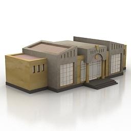 مدل سه بعدی آماده رستوران -کافه