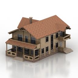 مدل سه بعدی ساختمان ویلا