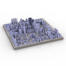 دانلود مدل آماده سه بعدی از شهر