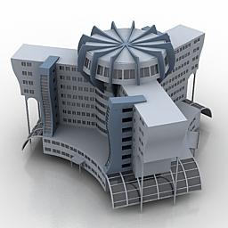 طراحی هتل - مدل آماده سه بعدی ساختمان هتل