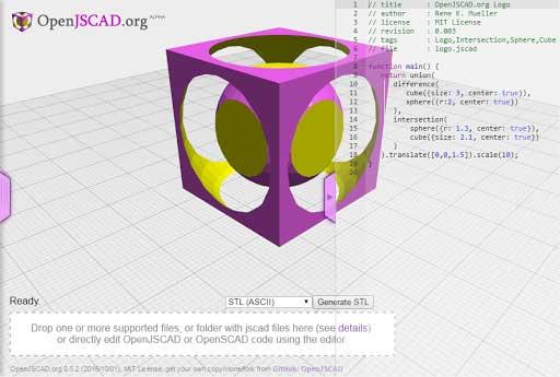 OpenJSCAD نرمافزار