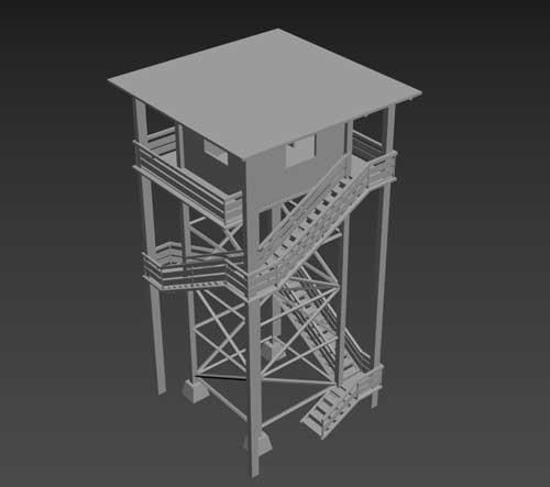 برج مراقبت چوبی
