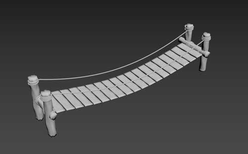 پل چوبی