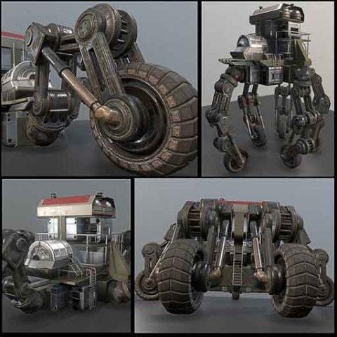 (www.swan3d.ir)ربات صنعتی 5 چرخ