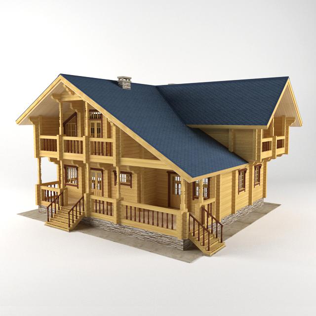 خانه ویلایی چوبی -011113