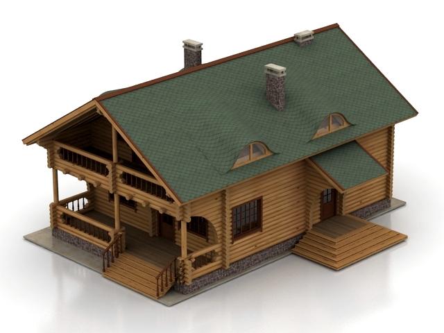 ساختمان خانه ویلایی چوبی -010614