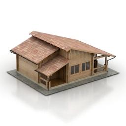 ساختمان خانه ویلایی کوچک خانه باغ 211213