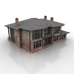 ساختمان دوطبقه مسکونی ویلایی -121009