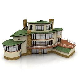 ساختمان مسکونی ویلایی 4طبقه خانه تپه ای -241110