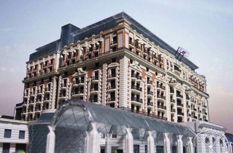 ماکت هتل ریتز کارلتون در مسکو (Ritz Carlton Hotel)