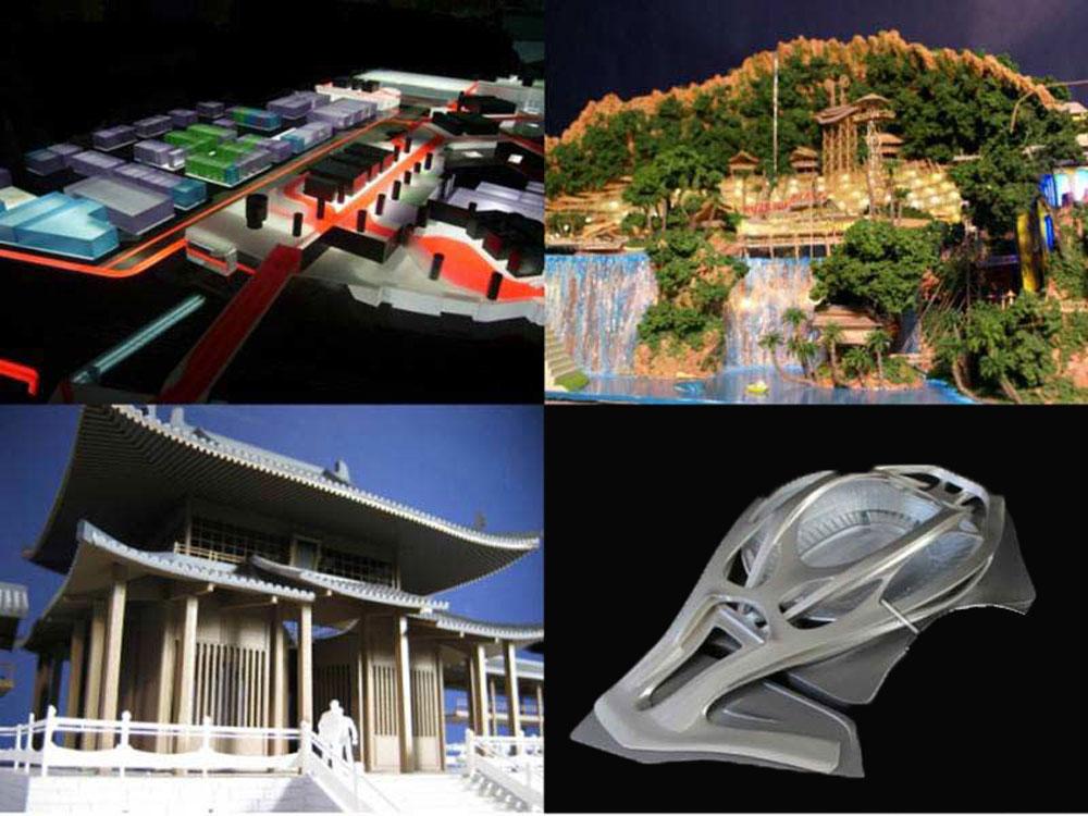 متریالهای ماکتهای معماری